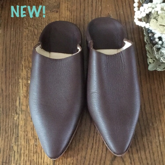 a1eba44553684 New leather babouche slides from Morocco NWT